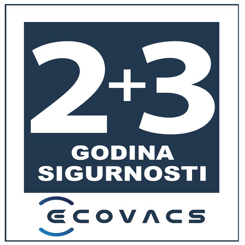 Ecovacs 2+3 godina garancije uz obaveznu online prijavu