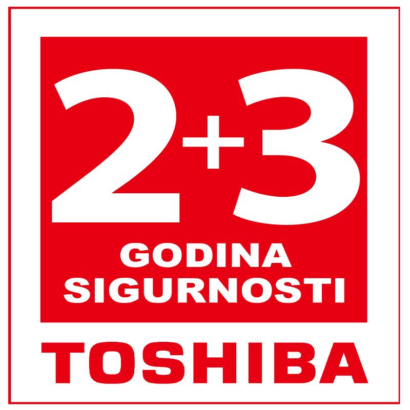 Toshiba 2+3 godina garancije uz obaveznu online prijavu