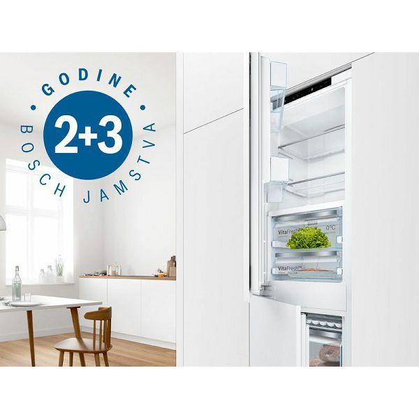 BOSCH 2 godine tvorničnog jamstva + 3 godine dodatnog jamstva na ugradbene hladnjake i zamrzivače
