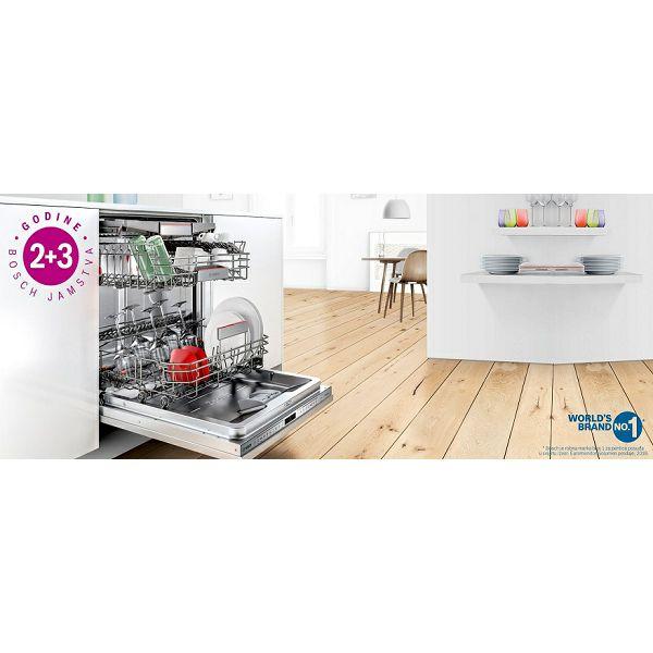 Bosch 2 godine tvorničnog jamstva + 3 godine dodatnog jamstva na sve perilice posuđa!