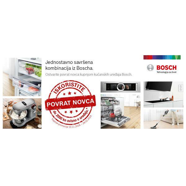 Ostvarite do 2000 kn povrata na račun uz kupnju odabranih modela kućanskih uređaja Bosch!