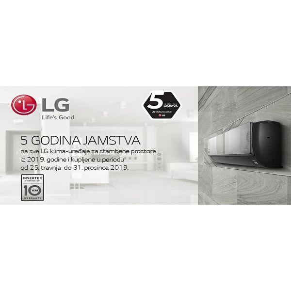 LG 5 GODINA JAMSTVA za 2019 LG DUAL Inverter klima-uređaje kupljne u periodu 25.4.-31.12.2019.