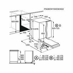Ugradbena perilica posuđa Electrolux EEA12100L