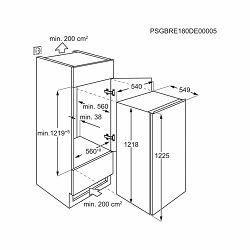 Ugradbeni hladnjak Electrolux LFB3AF12S