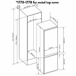 Ugradbeni hladnjak Končar UHC1A54.251DVN