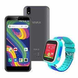 VIVAX Fun S1 gray +  CORDYS SMART KIDS WATCH Zoom blue
