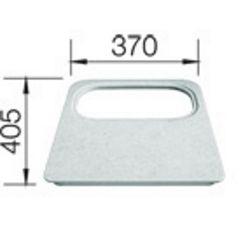 DASKA za BLANCO DANA - s otvorom za kadicu - PVC siva  (405x370mm)