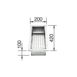 KADICA za ZEROX, CLARON - INOX 18/10 (420x200mm)