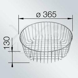 KOŠARICA za BLANCO RONDO, SOL, VAL  INOX 18/10  (Ø362mm)