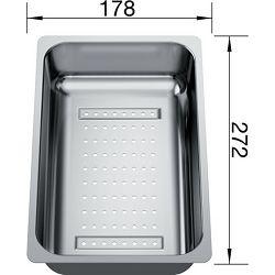 KADICA za BLANCO LEXA 6 S, ZIA 6 S  (272x178mm)  INOX 18/10