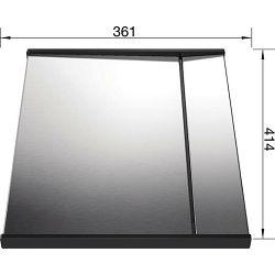 DIO za CIJEĐENJE ZEROX, CLARON - INOX 18/10 (413x360mm)