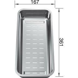 KADICA za BLANCO ZENAR  (361x167mm)  INOX 18/10  – multifunkcionalna