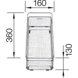 KOŠARICA za BLANCO SUBLINE – MULTIFUNKCIONALNA  INOX 18/10  (360x160mm)