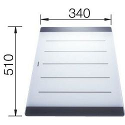 DASKA za AXIS II - staklo (510x340mm)