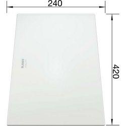 DASKA za ZEROX, CLARON - staklo bijelo (420x240mm)