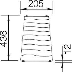 MREŽA za cijeđenje BLANCO ELON XL 6 S  (436x205mm)  INOX 18/10