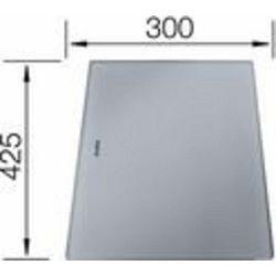 DASKA za DIVON - staklo sivo (425x300mm)