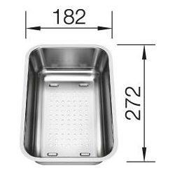 KADICA za BLANCO SONA 6 S  (272x182mm)  INOX 18/10 - multifunkcionalna