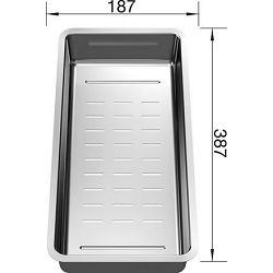 KADICA za BLANCO DIVON II 45 S, 5 S, 6 S, 8, 8 S-IF  (387x187mm)  INOX 18/10