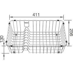 KOŠARICA sa stalkom za tanjure za BLANCO NAYA 6, PLEON 8  INOX 18/10  (406x251mm)