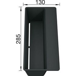 KADICA BLANCO SITYBox  (285x130mm)  PVC SIVA