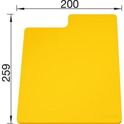 DASKA za BLANCO SITYPad ŽUTA - plastična daska za rezanje  (259x200mm)