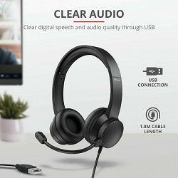 Slušalice TRUST RYDO USB za PC, crne