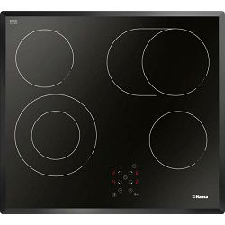 Ploča za kuhanje Hansa BHC66706, staklokeramika, dvije proširene zone, jedna kružna, jedna ovalna, touch, fazetirani rub