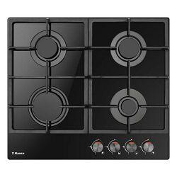 Ploča za kuhanje Hansa BHKS610502, inox, 4 x plin, gus rešetka, crna, staklokeramika