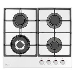 Ploča za kuhanje Hansa, BHKW611505, staklokeramika, 4 plina, bijela, gus rešetka, wok plamenik