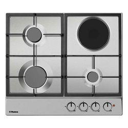Ploča za kuhanje Hansa BHMI610302, kombinirana, 3 plin + 1 struja, inox, gus rešetka