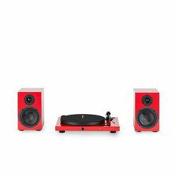 Set gramofon i zvučnici PRO-JECT JUKE BOX E HiFi Set crveni