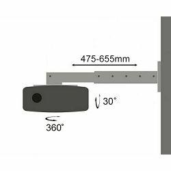 Zidni nosač za projektor SBOX PM-105 (nagib +-15°, okretanje 360°)