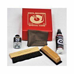 Set za čišćenje gramofonskih ploča SIMPLY ANALOG De Luxe Cleaning Set Red
