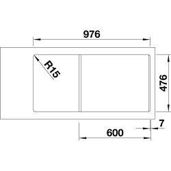 BLANCO sudoper ANDANO XL 6 S-IF InFino  INOX 18/10, BAZEN LIJEVO, pribor 18/10, s dalj. upr.