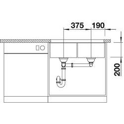 BLANCO sudoper SUBLINE 350/350-U  SILGRANIT PuraDur BIJELA, bez dalj.uprav.