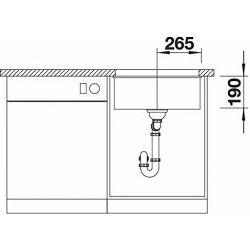 BLANCO sudoper SUBLINE 500-U InFino  SILGRANIT PuraDur ANTRACIT, bez dalj.uprav.