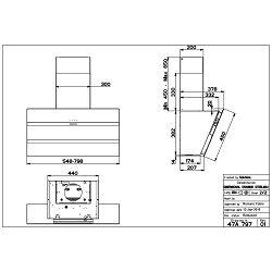 Faber kuhinjska napa Steelmax EV8 LED BK/X A80