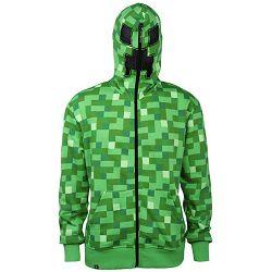 Hoodie Minecraft Creeper Green S