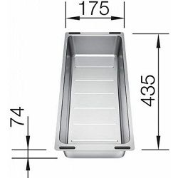KADICA za BLANCO SUBLINE  (435x185mm)  INOX 18/10 - multifunkcionalna