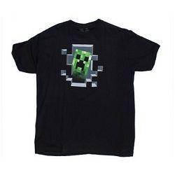 T-shirt Minecraft Creeper Inside Black L