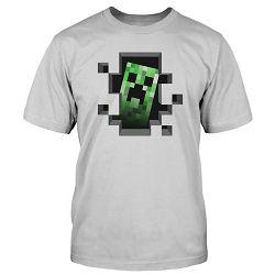 T-shirt Minecraft Creeper Inside Silver M