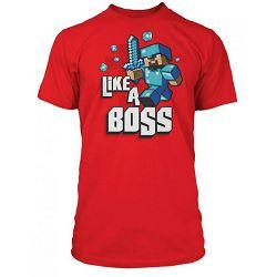 T-shirt Minecraft Like a Boss Red S