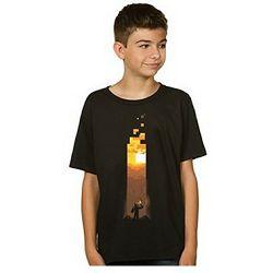 T-shirt Minecraft Torch Black Youth L
