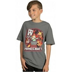 T-shirt Minecraft Vintage Minecart Youth L